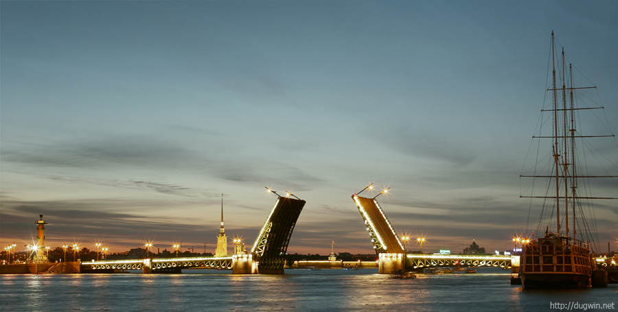 дворцовый мост hdr