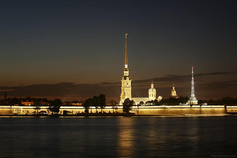 Петропавловская крепость, закат