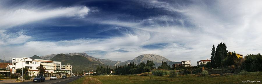 черногория, горы, небо