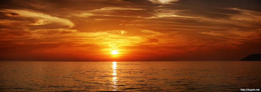 черногория закат море